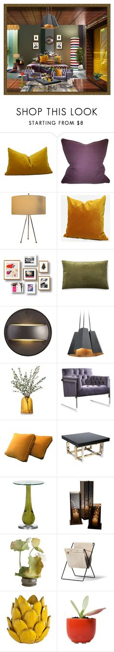 """""""Untitled #5723"""" by julissag ❤ liked on Polyvore featuring interior, interiors, interior design, home, home decor, interior decorating, Missoni Home, Coordinates Collection, Kravet and Williams-Sonoma"""