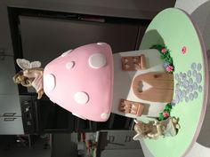 Fairy/toadstool Cake...Made by me for my daughter's 5th birthday.