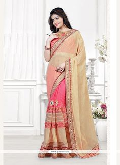 Specialised Lycra Patch Border Work Traditional  Saree Model: YOSAR7775