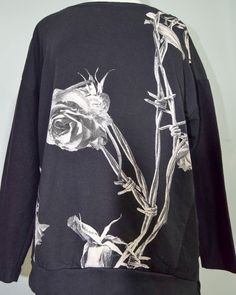Religion Roses and Barbed Wire Top via Alter. Click on the image to see more!