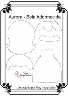 Moldes Princesa da Disney (Blog Amigas do Feltro) molde Princesa Bela Adormecida Feltro