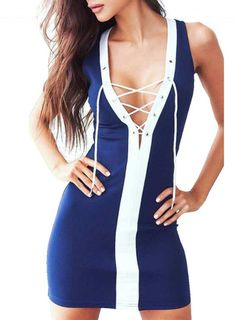 LACE UP BANDAGE DRESS 2 COLOURS AVAILABLE