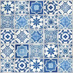 Mosaic Patterns, Fabric Patterns, Greek Decor, Create This Book, Blue Pottery, Vinyl Tiles, 3d Max, Home Wallpaper, Tile Art