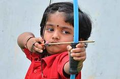 This 2-Year-Old Indian Girl Has Just Set A New National Record In Archery