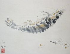 Ochiai Rofu 落合朗風 (1896 - 1937), Prawn.