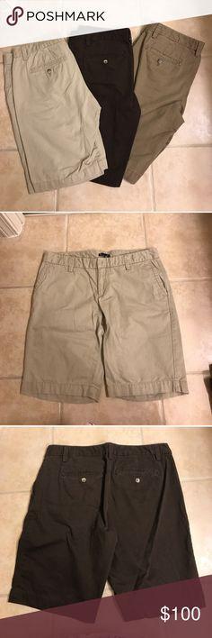 Size 10 beige, brown, & khaki GAP shorts bundle Size 10 beige, brown, & khaki GAP shorts bundle GAP Shorts