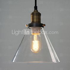 Max 60W Traditional/Classic / Vintage / Bowl Mini Style Painting Metal Pendant Lights Living Room / Bedroom / Dining Room - GBP £29.39