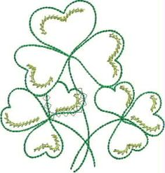 ♥ downloaded - lots of free designs   Clovers