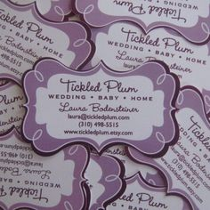 The Fancy Business Card by tickledplum on Etsy, $45.00