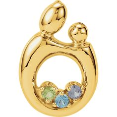 Purchase Solid Gold Round Cut Multi Stone Mother & Child Pendant # Free Stud Earrings from JewelryHub on OpenSky. Share and compare all Jewelry. Birthstone Pendant, Rings N Things, Mother Rings, Mother And Child, Solid Gold, White Gold, Peridot, Topaz, Fine Jewelry