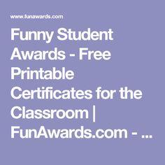 Fun certificates for teens