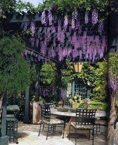 Rustic Pergola, Outdoor Pergola, Backyard Pergola, Wooden Pergola, Outdoor Spaces, Small Courtyard Gardens, Small Backyard Gardens, Pallet Garden Furniture, Building A Pergola