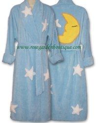 Moon and Stars bathrobe by Canyon Group. Their signature design, seen on numerous television shows.