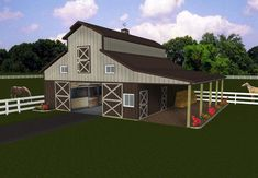 Shed Roof Attached To Gambrel Barn 32 X 40 Gambrel