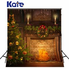 FT Kate Night Of New Year Photo Studio Backdrops Christmas IndoorPhotography Backdrops Fondos De Estudio Fotografia Christmas Tree And Fireplace, Christmas Vinyl, Christmas Candle, Cheap Christmas, Kids Christmas, Merry Christmas, Christmas Wedding, Christmas Photography Backdrops, Christmas Backdrops