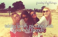 Taking funny pictures with your #BFF is a given!