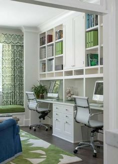 Modern Home Office Design Ideas. Therefore, the requirement for house offices.Whether you are planning on including a home office or renovating an old space into one, here are some brilliant home office design ideas to help you get going. Home Office Space, Home Office Design, Home Office Decor, Modern House Design, Home Decor, Office Designs, Office Ideas, Closet Office, Office Furniture