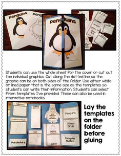 Penguin lapbook with lots of templates and step by step directions; $