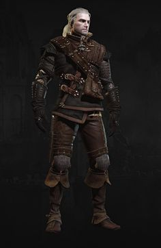 The Witcher Witcher 3 Armor, The Witcher Geralt, Geralt Of Rivia, The Witcher Book Series, The Witcher Books, Fantasy Inspiration, Character Inspiration, Larp, The Witcher Wild Hunt