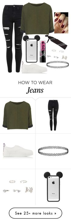"""Untitled#1334"" by mihai-theodora on Polyvore featuring Topshop, Eytys, Maybelline and River Island"
