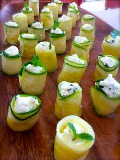 Tasty morsels - Ricotta zucchini rolls