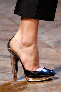 Yves Saint Laurent. Those poor feet. But what hot shoes.