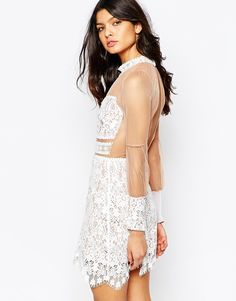 Image 2 ofFor Love and Lemons Vivian Mini Dress in Lace