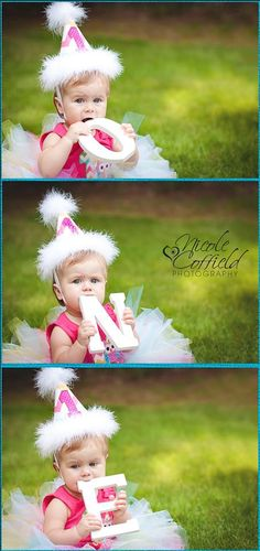 One Year Session - 1-year photography using letters 1 Year Birthday, Baby  Girl