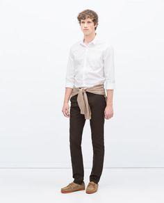 ZARA - HOMEM - CALÇAS OLHO DE PERDIZ Online Zara, Men Store, Trousers, Pants, Underwear, Boyfriend, Men Casual, Normcore, Mens Fashion