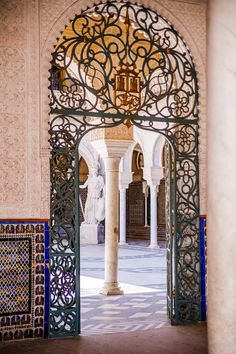 SPAIN / ANDALUSIA / Historic / Monumental -Casa de Pilatos Palace entrance in Seville, Spain