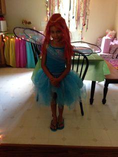 Winx Club birthday party Bloom costume.