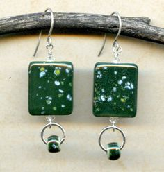 Moss Green Chicklets from Clay River @ antelopebeads.com