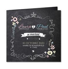 Un faire part mariage ardoise tendance 2014 │ Planet-Cards.com