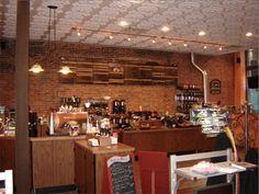 This New York restaurant installed Ceilume's Medallion Ceiling Tiles in White for an ultra-feminine touch. Ceiling Materials, York Restaurants, Ceiling Tiles, Ceilings, Liquor Cabinet, Feminine, Touch, Interior Design, Furniture