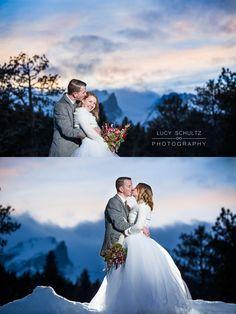 Romantic Wedding Photo Ideas   Winter Wedding   Colorado Wedding Photographer   Lucy Schultz Photography   Rocky Mountain National Park Wedding