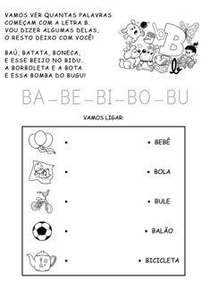 atividades silábicas letra B e vogais
