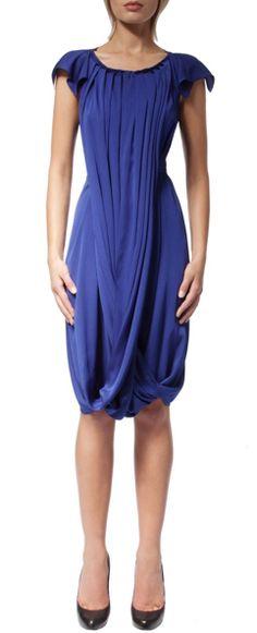 Roksanda Ilincic | Sessler color-block pleated silk-crepe dress ...
