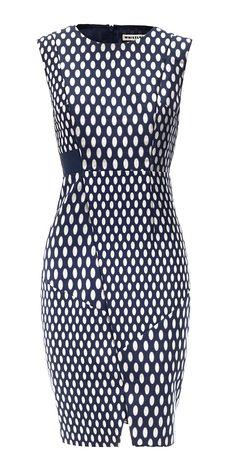 Ovoid Spot Print Dress