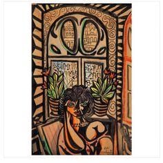 Di Cavalcanti, Emiliano (1897-1976) - Moça na janela - Aquarela - 30 x 20 cm - 1957  Di Cavalcanti, Emiliano (1897-1976) - Girl at the Window - Watercolor - 30 x 20 cm -   DaliArt 30 de agosto às 20:00hs www.iarremate.com  DaliArt August 30 to 20: 00hs www.iarremate.com  #daliart #dicavalcanti  #painting #paisagem #janela  #modernistas #art #arte #arquitetura #draw #decor #casacor #fineart #galery #galeria #iarremate #leilao #auction #bid #remates #leilaodearte #leilaoonline…