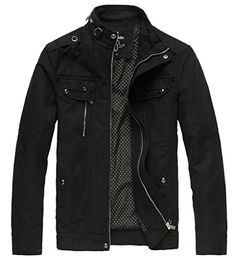 online shopping for Wantdo Men's Cotton Stand Collar Lightweight Front Zip Jacket from top store. See new offer for Wantdo Men's Cotton Stand Collar Lightweight Front Zip Jacket Best Travel Jacket, Revival Clothing, Look Man, Windbreaker Jacket, Cargo Jacket, Bomber Jacket, Cotton Jacket, Jacket Buttons, Lightweight Jacket