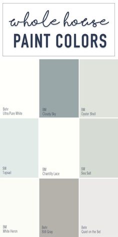 interior living room paint colors Paint Colors for a Whole Home Color Palette - Calming Neutral Paint Colors Bedroom Paint Colors, Paint Colors For Home, House Colors, Calming Paint Colors, Best Bathroom Paint Colors, Coastal Paint Colors, Behr Paint Colors, Popular Paint Colors, Paints For Home