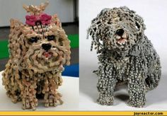 What do we do with broken bicycle chains? well, Nirit Levav, an artist from Israel has found a way to create stunning dog sculptures out of these discarded bicycle chains. Bike Humor, Small Sculptures, Metal Sculptures, Dog Sculpture, Bicycle Art, Unusual Art, Weird Art, Strange Art, Dog Art