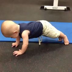Sorry but I have to share this one. Baby learns to plank .. just looking for someone who can do this too ^_^