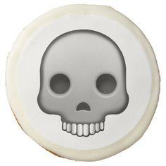 Skull Emoji Sugar Cookie