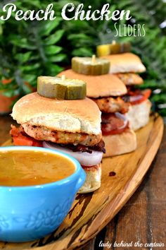 Lady Behind The Curtain - Peach Chicken Sliders