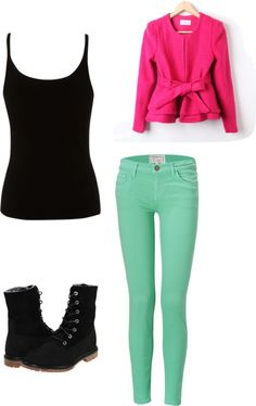 """""""Mint and Pink"""" by begirl2799 on Polyvore"""