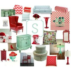 """Mint and Red..."" by jennifer-boulio-sawyer on Polyvore"