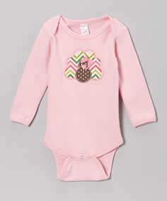 Take a look at this Pink Turkey Bodysuit - Infant by Petunia Petals on #zulily today!