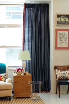 pinch pleating curtains diy from the talented Jenny Komenda of Little Green Notebook