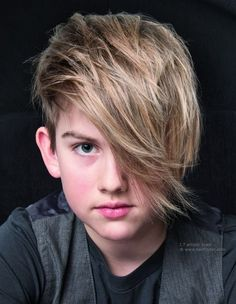 Long Hair With Side Swept hairstyles for boys